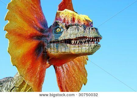Dilophosaurus Dinosaur With Orange Collar