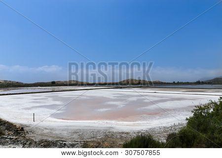Natural Salt Flats, of Marchamalo and Las Amoladeras beach at Cabo de palos, La Manga, Murcia, Spain poster