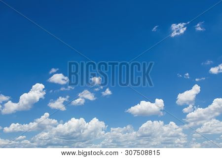 White Cloud With Blue Sky Background Textrue