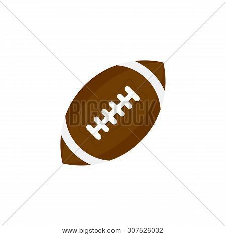 Ball For American Football. Football Icon. American Football Ball Oval Icon. Ball Icon Isolated On W