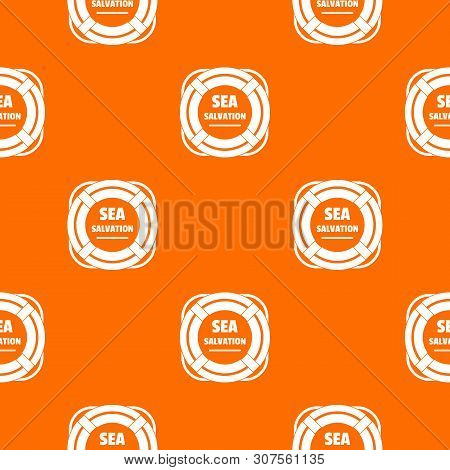 Sea Salvation Pattern Vector Orange For Any Web Design Best