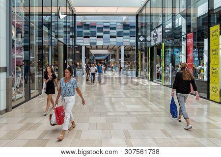 Utrecht, The Netherlands - July 05, 2018: Interior Modern New Shopping Centre Hoog Catharijne With S