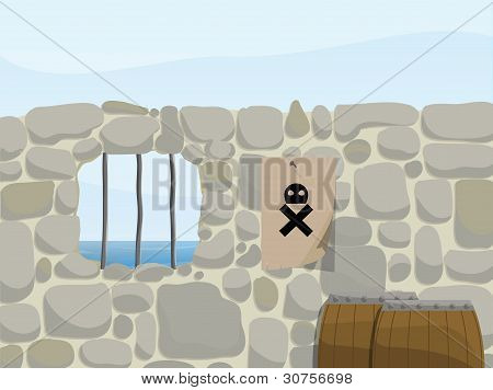 pirate background illustration