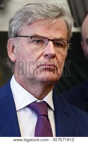 Bucharest, Romania - June 10, 2019: Dr. Franco Gussalli Beretta, Executive Vp & Director Of Beretta
