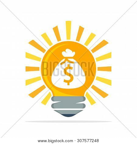 Vector Illustration Icon With The Concept Of Creative Ideas That Earn Income