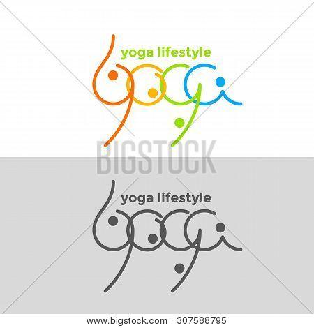 Yoga. Logo  Template For Yoga Festival. Health Care, Beauty, Spa, Relax, Meditation, Nirvana Concept