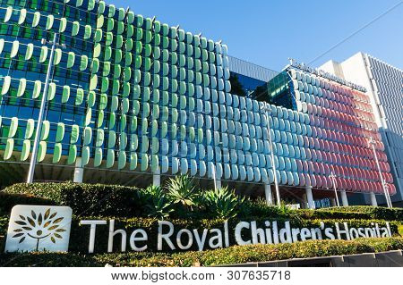 Melbourne, Australia - June 7, 2019: The Royal Childrens Hospital Is A Public Paediatric Hospital In