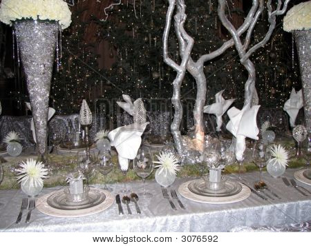 Winter Table Setting, Longwood Gardens Conservatory