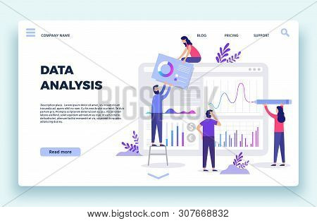 Finance Analyst Landing Page. Stock Market Forecasting, Stocks Statistic And Business Trends Forecas