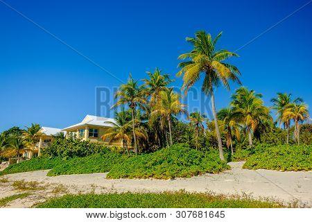 Little Cayman, Cayman Islands, Nov 2018,  Caribbean-style Houses On South Hole Sound