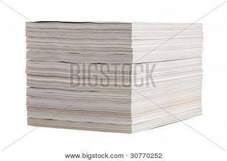 Neatly Folded Stack Of Magazines