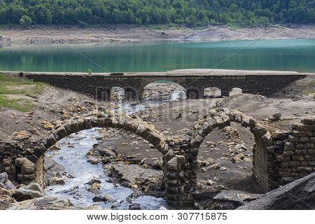 Mountain Landscape With Old Bridge - Image