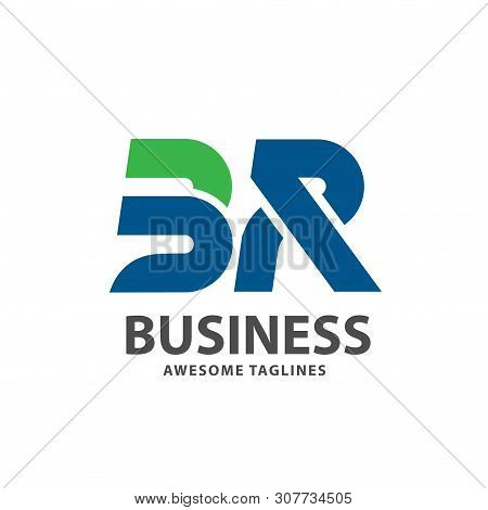 Creative Strong Initial Letter Br Logo Vector Concept