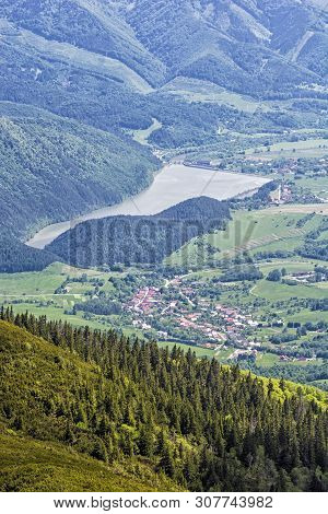 Water Reservoir Krpelany, Slovak Republic. Travel Destination. Summer Vacation.