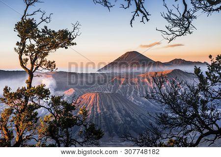 Sunrise At Volcano Mt.bromo (gunung Bromo) East Java,indonesia