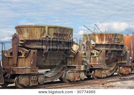 ladles on a railway platform