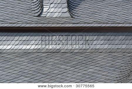 Schist Tiled Roof Detail