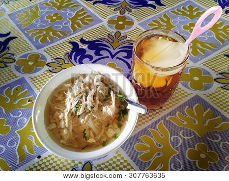 Soto Ayam Is A Delicious And Tasty Indonesian Special Dish. Soto Ayam Is Ready To Be Eaten. Chicken
