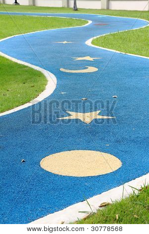 Jogging track in the park