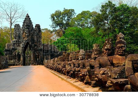 South Gate, Entrance To Angkor Thom, Cambodia