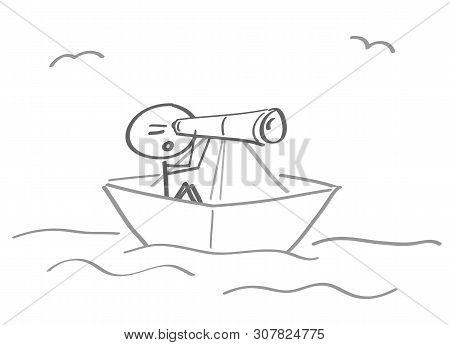 Shipwreck Distress Stranded Ship Paper Ship Binoculars