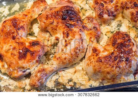 Oven Roasted Chicken Legs Garlic Mayonnaise Yogurt Sause