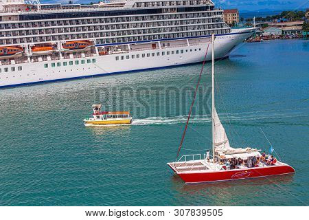 Castries, St Lucia - November 21, 2016: Viking Cruises Is A Cruise Line Providing River And Ocean Cr