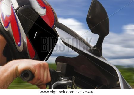 Motorcyclist.