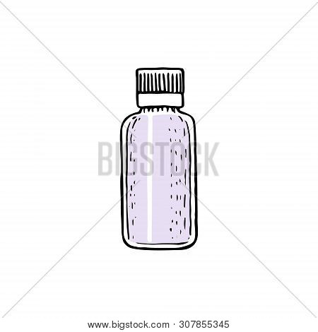 Small Bottle With Cap, Empty Container Template Phial With Spray, Dispenser, Dropper, Jar, Tube.