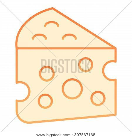 Cheese Flat Icon. Milk Food Orange Icons In Trendy Flat Style. Cheddar Gradient Style Design, Design