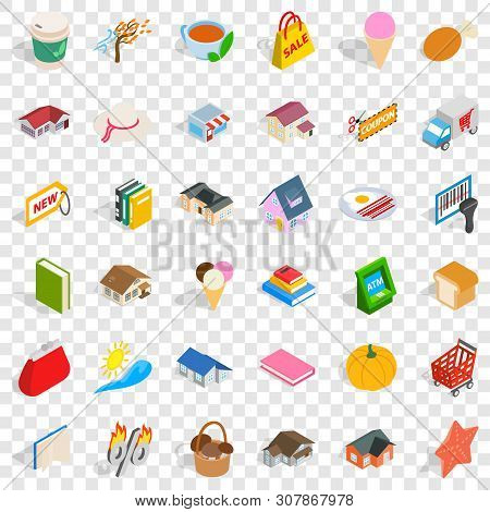 Dear Icons Set. Isometric Style Of 36 Dear Vector Icons For Web For Any Design