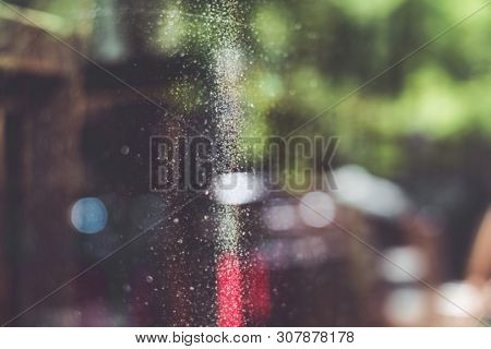 Blurred Window With Dust For Backgrounds And Overlays
