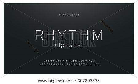 Minimal Urban Fashion Font Creative Modern Alphabet. Typography With Dot Regular And Number. Minimal