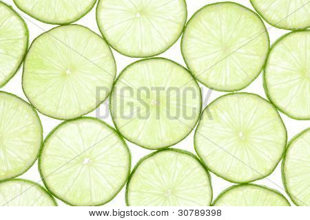 Fresh slices of lime