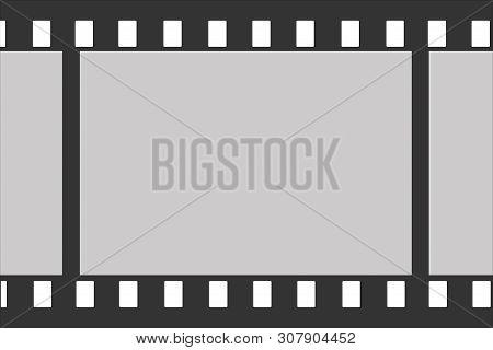 Illustration Of Photographic Film. Photographic Film Vector. Model Film.