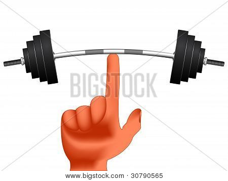 Finger Holding Weights