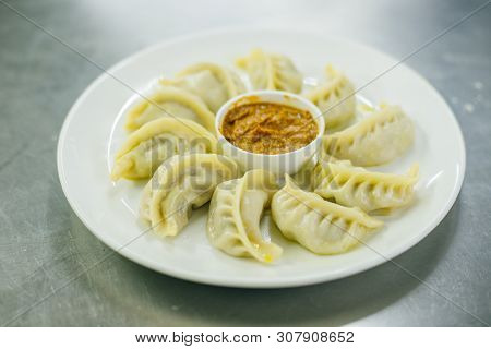 Nepalese Traditional Dumpling Momos, Tibetan Momo On The Plate