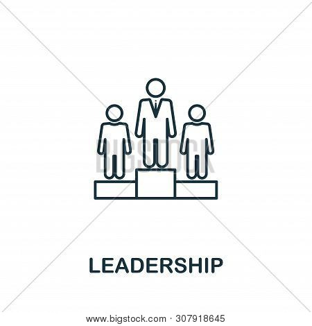 Leadership Vector Icon Symbol In Outline Style. Creative Sign From Human Resources Icons Collection.