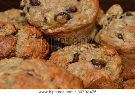 Fresh Delicious Chocolate Chip Muffins