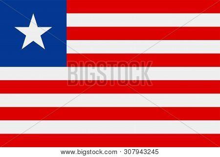Flag Of Liberia. Sovereign State Flag Of Liberia
