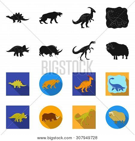 Isolated Object Of Animal And Character Logo. Collection Of Animal And Ancient Vector Icon For Stock