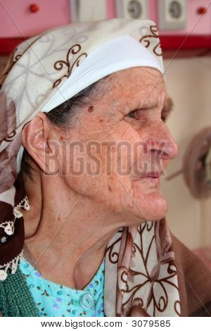 Profile Of An Old Lady