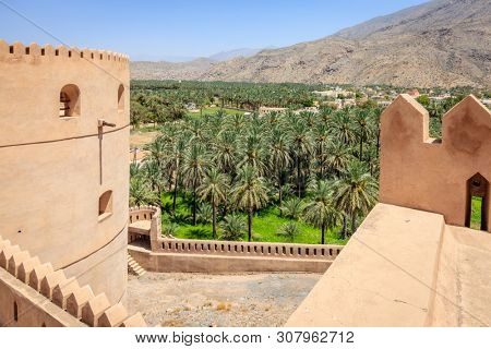 View from the wall of Rustaq Fort in the city of Rustaq, Oman