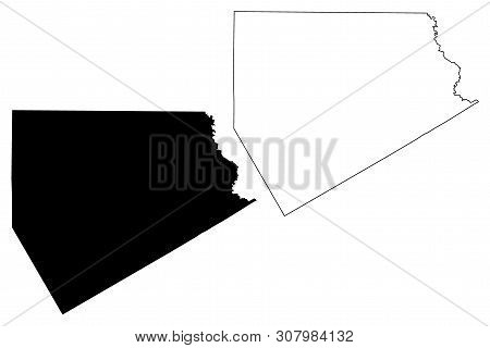 Ellis County, Texas (counties In Texas, United States Of America,usa, U.s., Us) Map Vector Illustrat