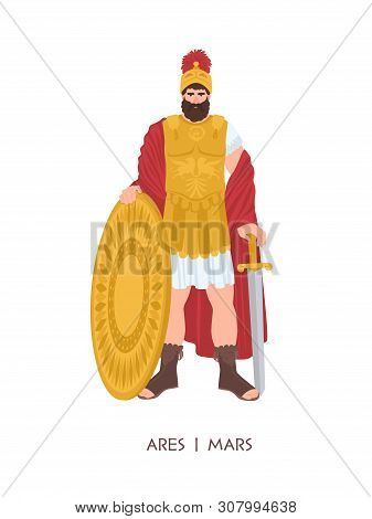 Ares Or Mars - Olympian God Or Deity Of War In Greek And Roman Religion And Mythology. Male Characte