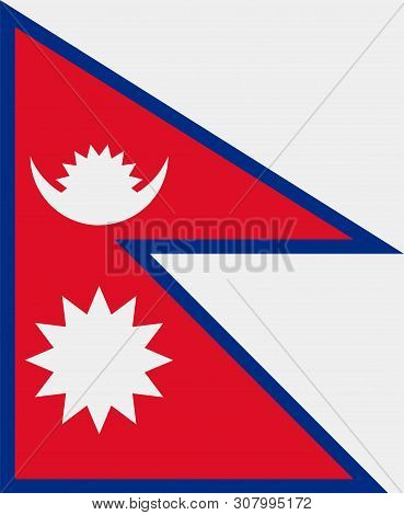 Flag Of Nepal. Sovereign State Flag Of Nepal