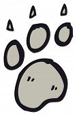 paw print cartoon poster