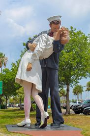 The Unconditional Surrender Statue Based On The World War Ii Photo In Sarasota Florida - June 9,2019