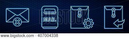 Set Line Envelope Setting, Delete Envelope, Mail Box, Envelope And Envelope With Magnifying Glass. G