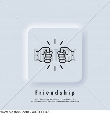 Friendships Icon. Fist Icon. Handshake Of Business Partners. A Human Greeting. New Normal. Vector. U